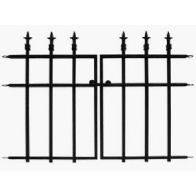 Panacea 87104 Classic Finial Style Garden Fence Section, Black, 2-Piece