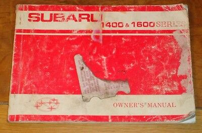 Subaru 1400 & 1600 series owners manual 1977