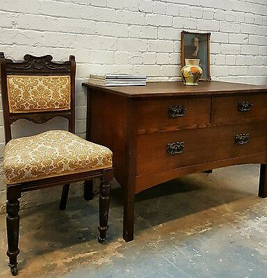 Antique Chest Of 4 Drawers Stunning Handles Vintage Nationwide Delivery