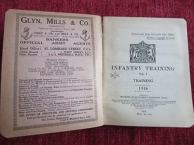 1926 Infantry Training Vol.1 Book Military Forces Army Rare BSup