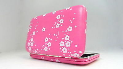 Credit ID Card Case Holder Slim Thin Wallet Pink Womens Business