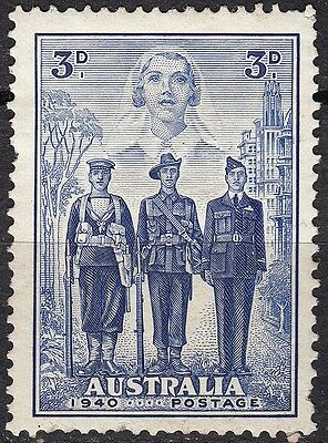 Australia 1940 3d Blue, Armed Forces, SG 199, mint hinged - Cat £16