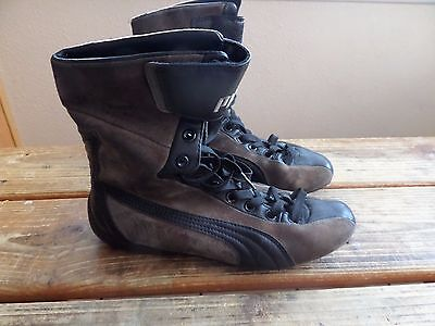 Rare! Vintage DS Puma Steilkurve Boxing Boots Wrestling MMA Shoes Youth US 5