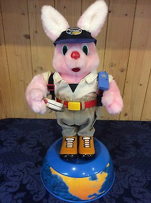 Vintage Duracell Ultra Advertising 'Globetrotter' Bunny - Battery Operated