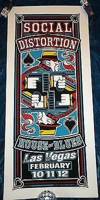 Rare 2006 Social Distortion Las Vegas 1/250 Poster House Blues Uncle Pete Mcphee