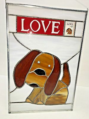 NANCY C. LUCE STAINED GLASS  LOVE PUPPY 1986 22Cnt Stamp Philatelic