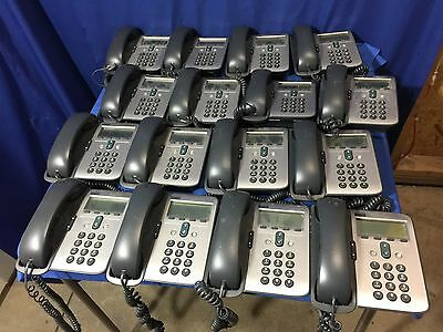 Lot of 16 Cisco IP 7912 Series Model CP-7912G-A VoIP Business Phones w/ Headsets