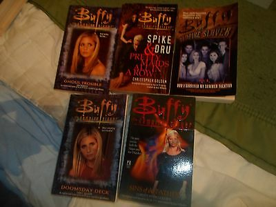 5 Buffy books: Ghoul Trouble, Sins of the Father, Doomsday, Pretty Maids etc.