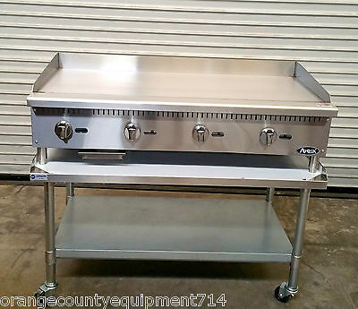 """NEW 48"""" Gas Griddle & Stand Atosa ATMG-48 4176 Commercial Plancha Flat Top Grill"""