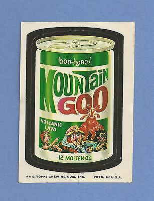 1974 Topps Wacky Packages Series 10 MOUNTAIN GOO