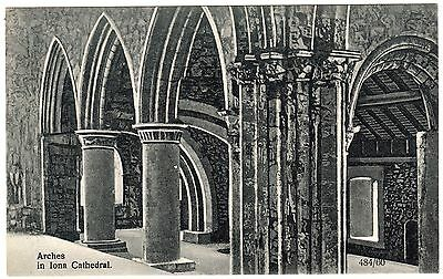Postcard Arches in Iona Cathedral Scotland Unused