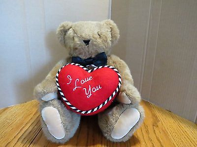 """Vermont Teddy Bear Plush I Love You Jointed Heart 15.5"""""""
