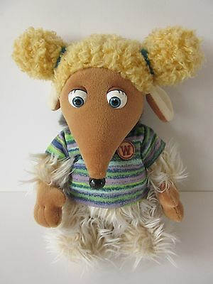 "Alderney Womble Golden Bear The Wombles soft toy plush 12"" Film Fair Ltd 1998"
