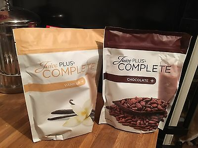 Juice Plus Complete Shake Chocolate & Vanilla  Brand New Sealed 525g