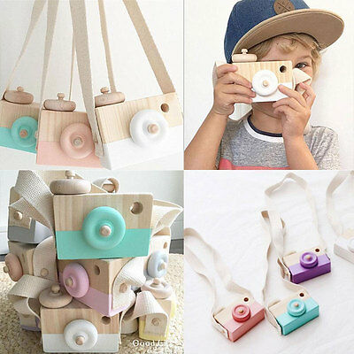 Wooden Camera Cam Cameras Toy Children's Travel Home Decor Gifts For Kids
