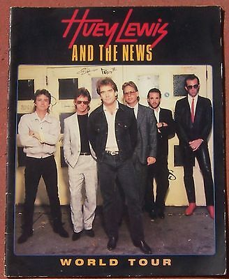 "Huey Lewis And The News ""world Tour"" 1986 Concert Program"