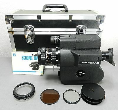 CANON SCOOPIC 16 MS 16mm Film Camera w/ Case Filters 16MS Owners Manual