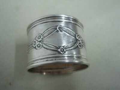 Portuguese boar silver Napkin Ring art nouveau with place for monogram