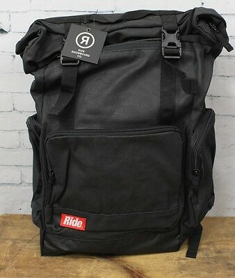 New 2017 Ride Snowboard 25L Roll Top Pack Backpack Black