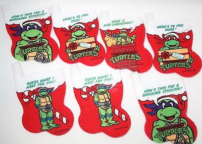 VINTAGE! 90's TMNT Teenage Mutant Ninja Turtles Christmas Stocking Ornaments