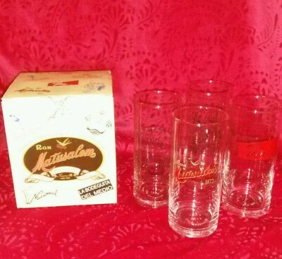 The Matusalem Glass Set Old Cuba New In Box Tropical Bar Rum