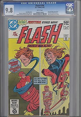 Flash #296 CGC 9.8 1981 Comic featuring Elongated Man and Double Panel Cover
