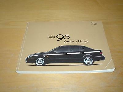 SAAB 95 9-5 AERO TURBO SALOON & ESTATE Handbook Owners Instruction Manual Book