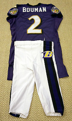 #2 Todd Bouman Authentic Game Issued Ravens Jersey & Pants with #2