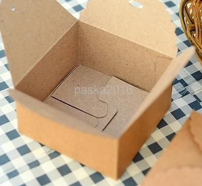 12x Brown Kraft Paper Box Cake Sweets Gift Box for Wedding Party DIY Craft