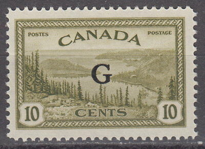"""Canada #O21 10¢ Great Bear Lake """"G"""" Overprint Official Mint Never Hinged - A"""