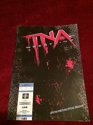 Tna Program(Usa)Tour 2010 Signed By 15 Abyss/jarrett/foley/anderson/love/wwf/wwe