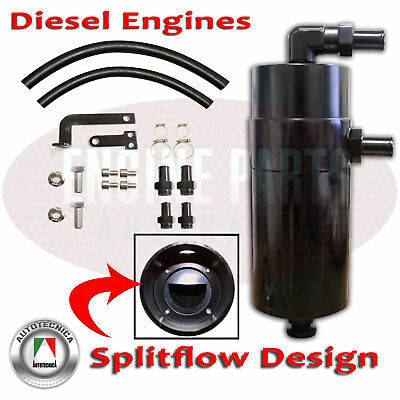 Performance Alloy Pcv Catch Can - Diesel Engines Black Anodized Mazda Bt Bt50