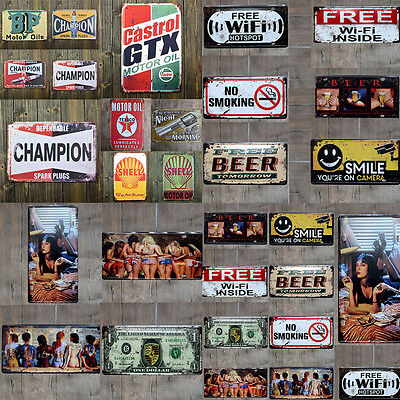 Vintage Metal Tin Poster Sign Plaque Bar Pub Club Wall Home Decor Hot  Retro
