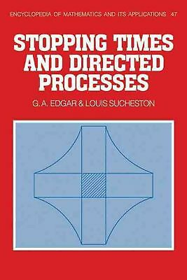 Stopping Times and Directed Processes by G.A. Edgar (English) Paperback Book Fre