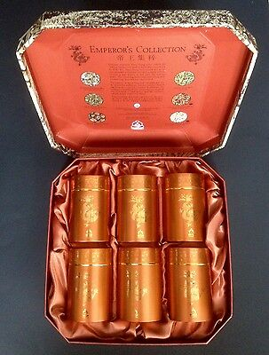 "Rare Teavana Tea Cannister Set (6) ""The Emperor's Collection"" 1996 Limited Ed."