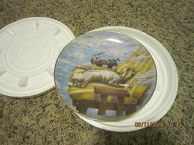 Danbury Comical Cat Plate - Cat Day Afternoon by Gary Patterson - New in box