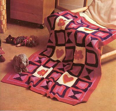 CROCHET Pattern for Baby AFGHAN Gorgeous Design in 8 ply DK copy