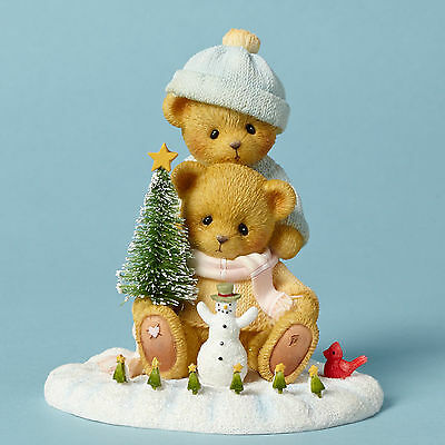 Cherished Teddies*BEAR PLAYING IN THE SNOW*New*CHRISTMAS*Liz & Marcos*4040470