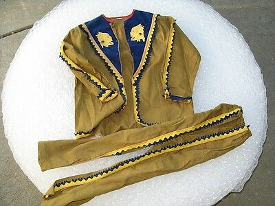 Antique American Indian Childs Halloween Costume Shirt & Pants