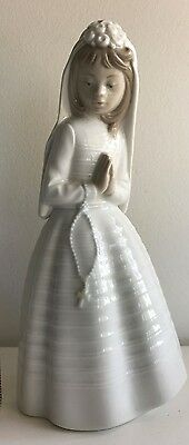 Nao Lladro 1977 First Communion Confirmation Girl Praying