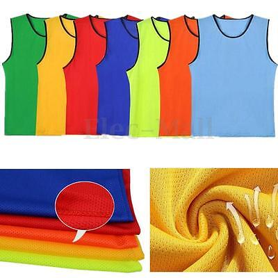 Sports Soccer Football Basketball Team Sports Breathe Training Bibs Vests Mesh