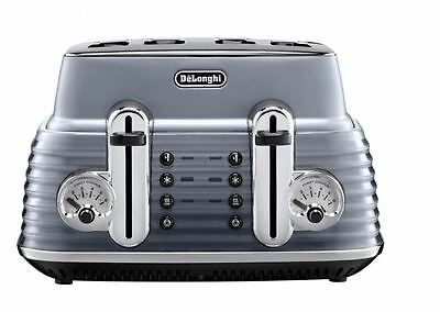 DeLonghi CTZ4003GY 4-Slice Toaster 1800W With Variable Browning Control In Grey