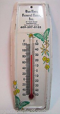 Vintage Van Horn Funeral Home Advertising Thermometer Lambertville New Jersey