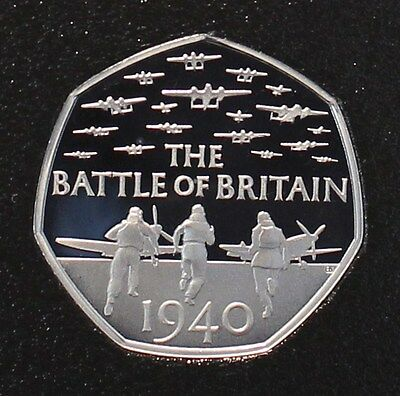 ~~ Royal Mint 2015 Battle of Britain Proof Undenominated 50p Fifty Pence Coin ~~