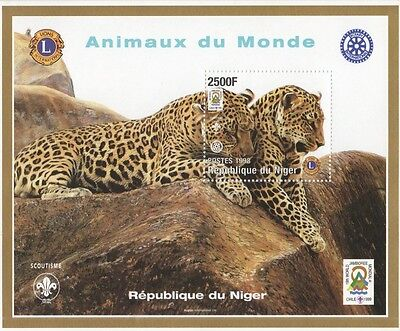 Scouting Animals Of The World Leopard Rotary International 98 Mnh Stamp Sheetlet
