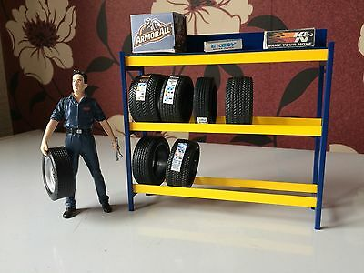 1/18 scale Plastic Tyre rack for garage diorama