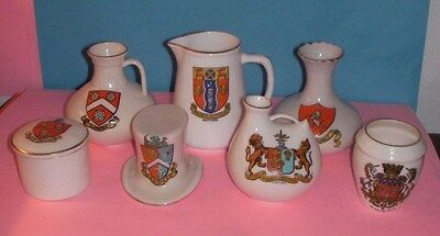 Crested China Chester,Llanberis,Penmaenmawr,Watford,Chislehurst,Amiens Crests