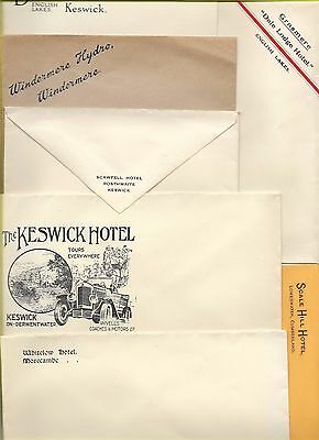 ENGLISH LAKES etc HOTELS/GUEST HSES- 40 MINT IMPRINTED ENVELOPES ca ?1920s/30s