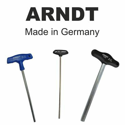 T-Handle Hex Allen Key Alen Alan Hexagon Key Keys CHROME VANADIUM ARNDT 500