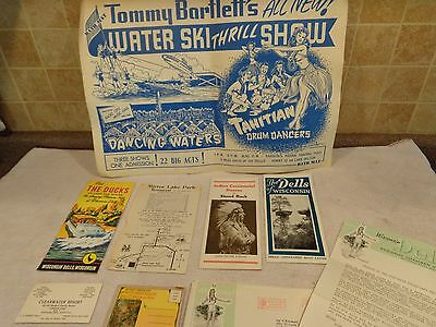 Vintage Wisconsin Dells~Tommy Bartlett's Show~Indian Ceremony~Ducks~Cards 8 Lot